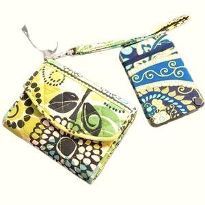 Vera Bradley Mini Wallet & Card Holder Set